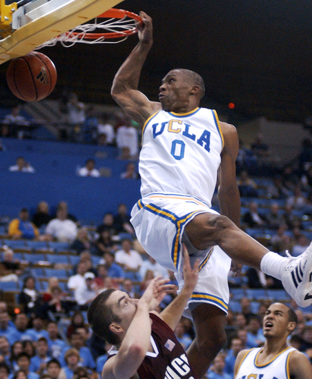 UCLA vs Chico State. We won by a lot. Like 93 - 51.