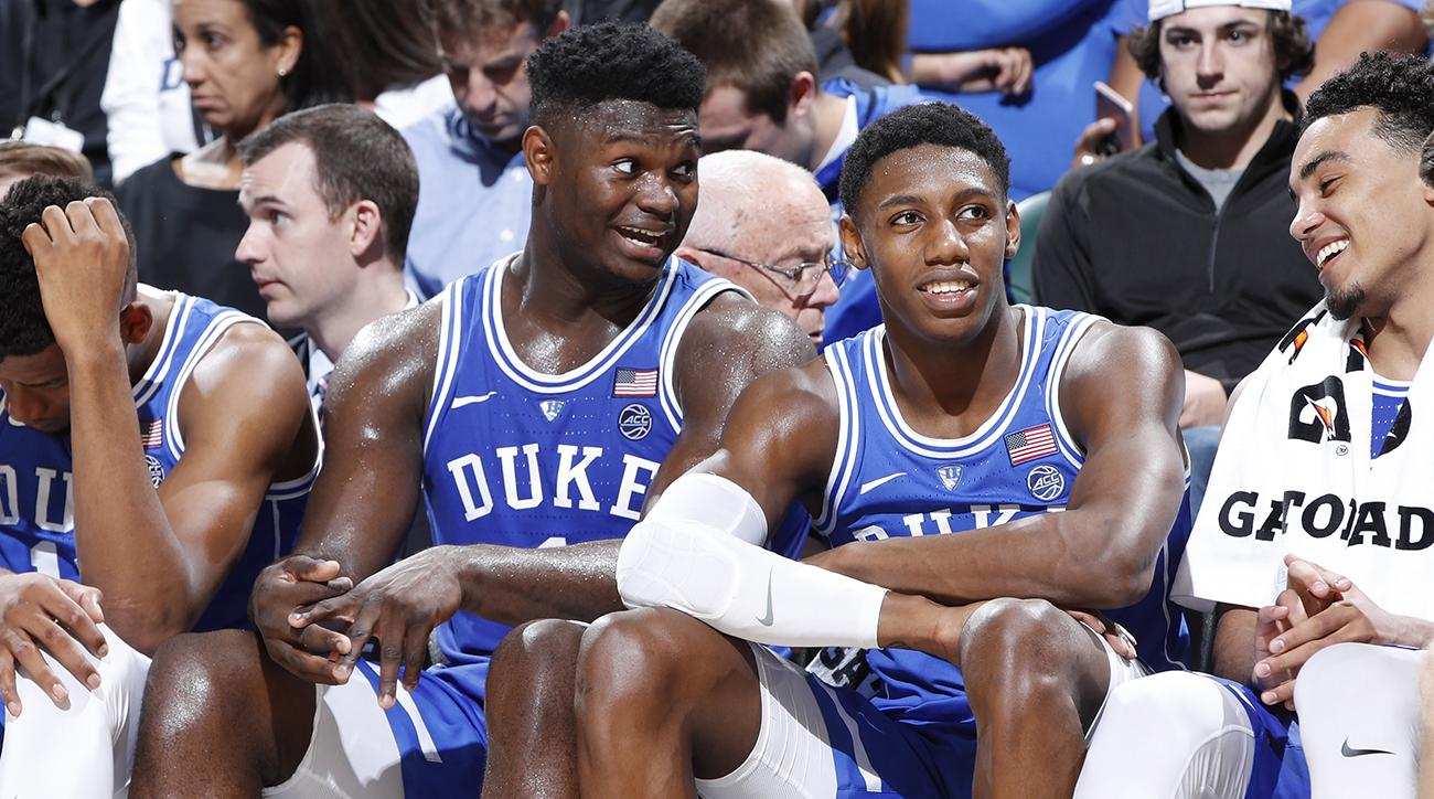 zion-williamson-rj-barrett-duke-bench